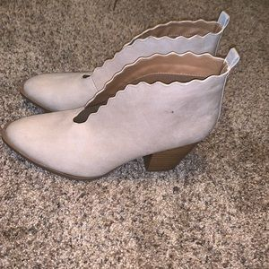 Never worn open mouth booties